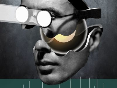 Featured Image for Rolland Viau's Theory of Motivation - Collage Artwork depicting the head of a man wearing eyeglasses