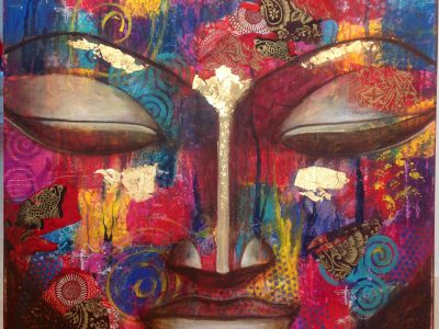 Featured Image for Contemporary Mindfulness Preconceptions depicting a Colourful Head of Buddha