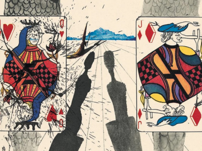 Salvador Dali Painting from The Alice in Wonderland Series hinting at the Anima and Animus archetypes