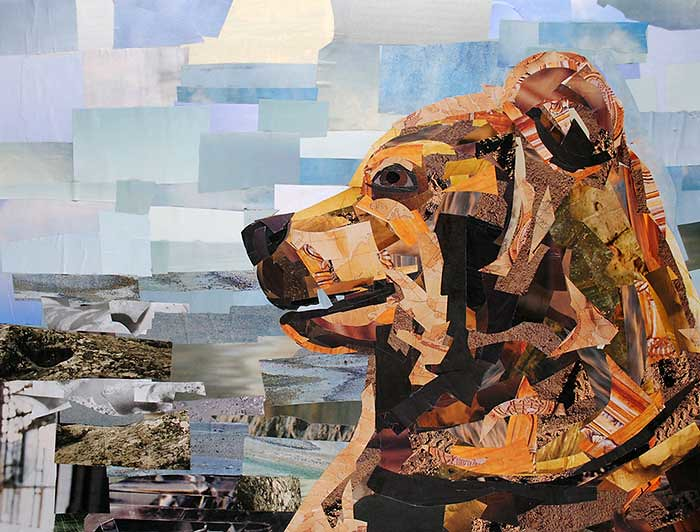 Featured Image for The James-Lange Theory of Emotion - Collage Art depicting a Bear