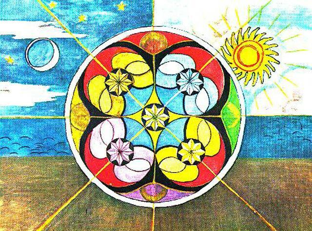 Mandala made by C.G. Jung