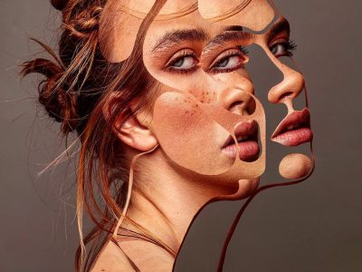 Featured Image for Impostor Syndrome: Understand and overcome it - Collage Image depicting a woman visually fragmented