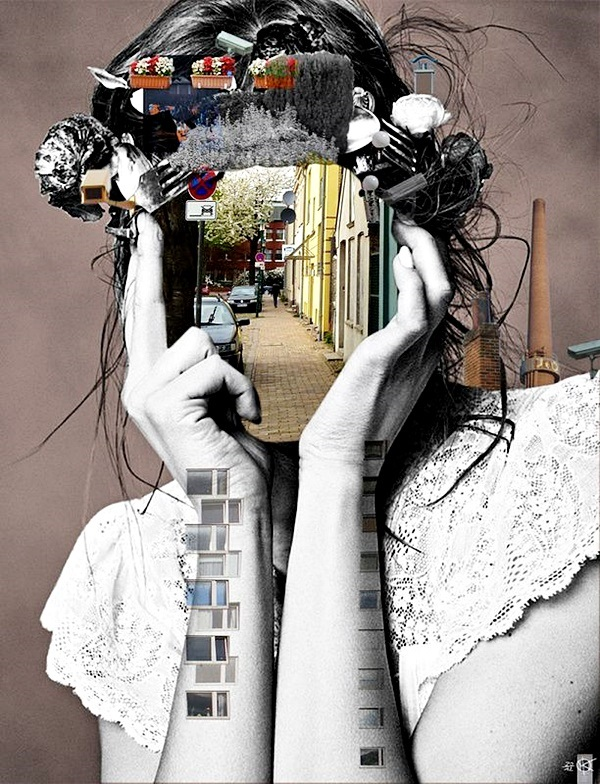 Featured Image for Jean Piaget's Theory of Cognitive Development representing an abstract collage artwork