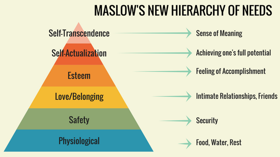 Maslow's New Hierarchy of Needs Structure