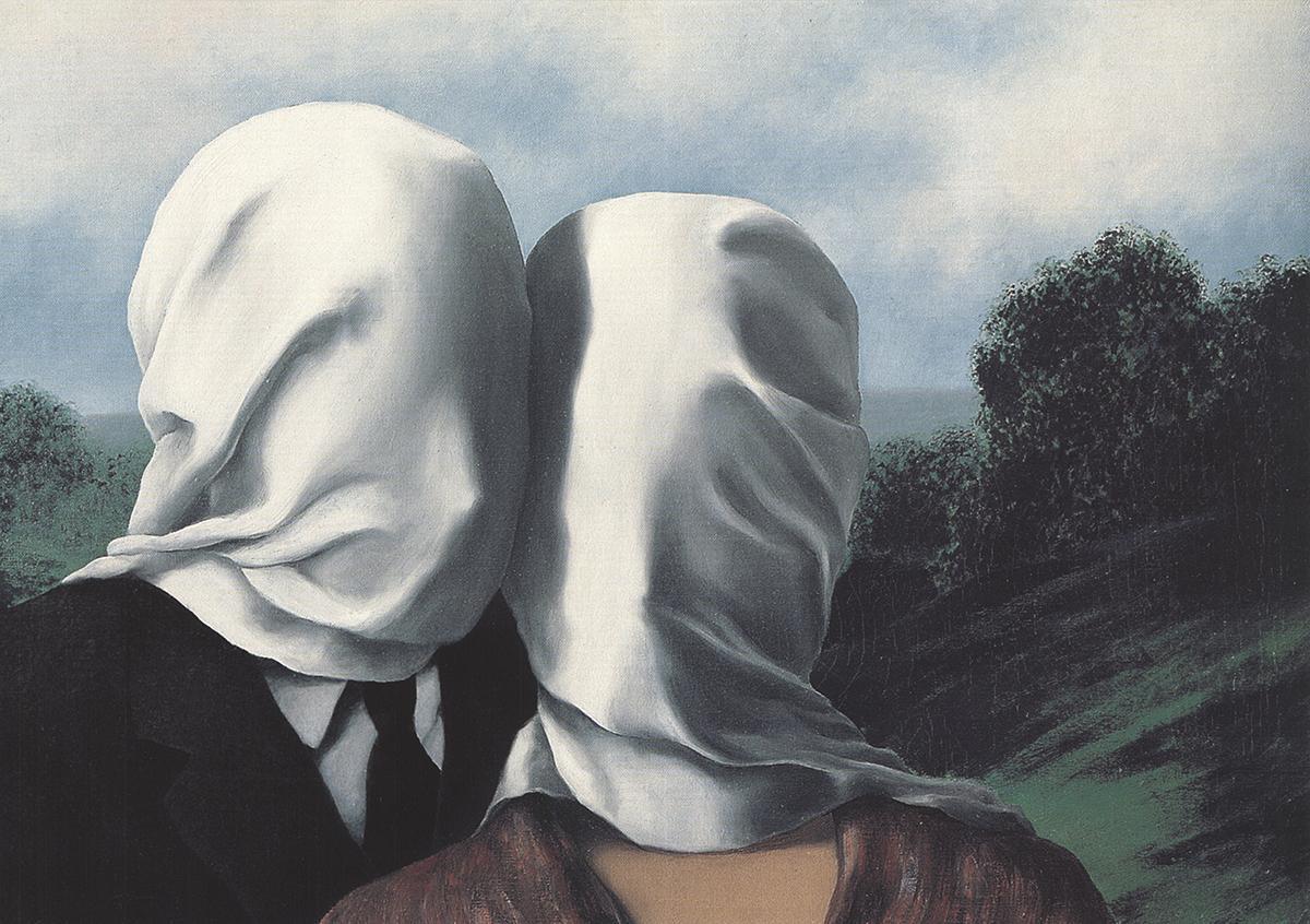 René Magritte - Les Amants (The Lovers)