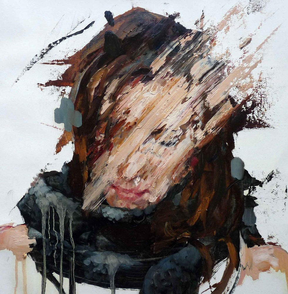 Neuroticism - The Big Five Personality Traits, abstract painting of a woman with her face covered in paint