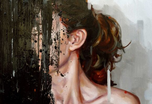 Conscientiousness vs. lack of direction - The Big Five Personality Traits, abstract painting of a woman with her face covered in paint